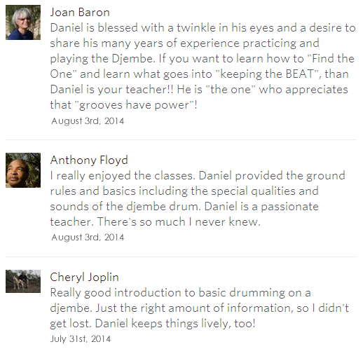Drum and Rhythm Basics feedback July 2014